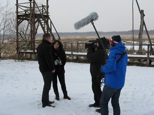 09 lutego gościliśmy w naszym gospodarstwie przedstawicieli Fundacji Biebrzańskiej wraz z ekipą TVP1