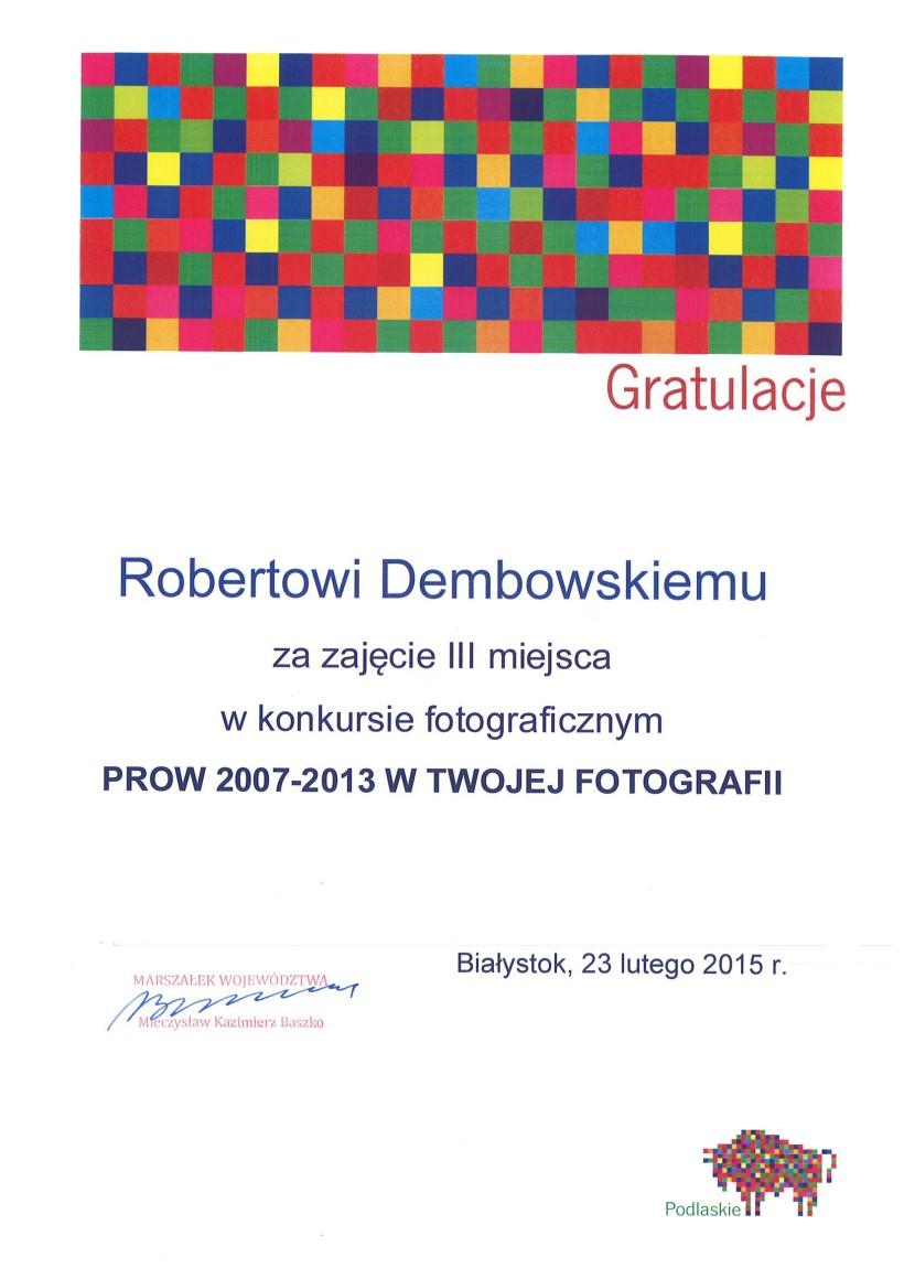 """Konkurs fotograficzny """"PROW 2007-2013 w Twojej fotografii"""" rozstrzygnięty"""