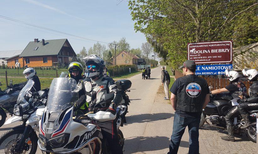 Zjazd motocyklistów nad Biebrzą